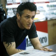 "Sean Penn in ""Mystic River"" Director: Clint Eastwood. Love Movie, Movie Stars, Movie Tv, Sean Penn, Mystic River, Movie Tattoos, Portraits, Clint Eastwood, Film Director"