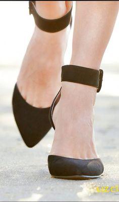 Black strap heels // love
