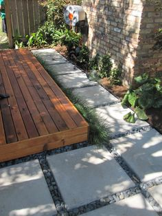 ground level deck with walk way Small Backyard Decks, Decks And Porches, Backyard Patio, Backyard Landscaping, Ground Level Deck, How To Level Ground, Agriculture, Island Deck, Floating Deck