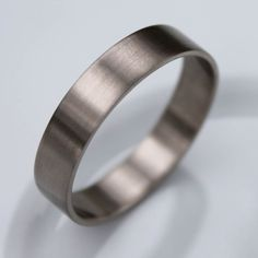 Handmade Recycled Eco Friendly Palladium White Gold Wedding Band Satin Finish Modern Ring Men S Via Etsy