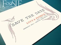 SALE  Eco Friendly Save The Date Postcard lucy & by FoosieDesign, $1.15