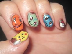 Get pokemon on your fingers #nails