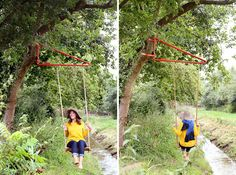 Swing device for any pole or tree designed by Thor Ter Kulve for Weltevree