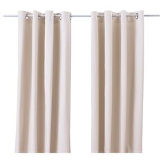 "MERETE Curtains, 1 pair - IKEA MERETE Curtains, 1 pair, beige $27.99 Article Number: 801.119.85 The thick curtains darken the room and provide privacy by preventing people outside from seeing into the room. Read more Size 57x98"".   100% cotton"