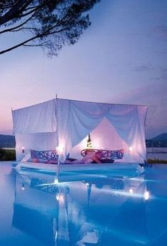soulmate24.com Floating Pool Bed, French Riviera