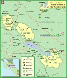 We help you plan your trip to Costa Rica with unique maps of Arenal Volcano Highlands Map