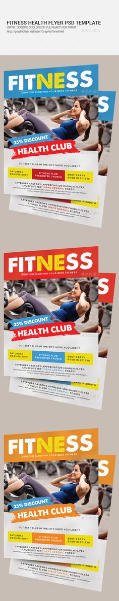 Fitness Flyer Fitness, Sports and Flyers - fitness flyer template