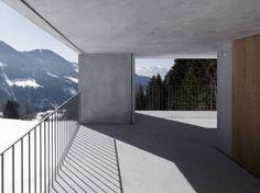 Mountain Cabin in Laternser Valley  Austria     A project by: marte.marte     Architecture