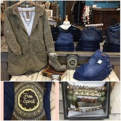 Made a cute new focus table today.  Jacket by #monoreno layering top by #projectsocialt necklace by #judsonandcompany jeans by #level99 boots by #rebel bracelets by #erimish handbag by #monab stop by and check out all of our new pretties @latida_boutique
