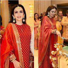 Nandini by Niti J Kundu - Her Crochet Salwar Designs, Kurti Designs Party Wear, Blouse Designs, Indian Attire, Indian Wear, Indian Outfits, Pakistani Dress Design, Pakistani Dresses, Indian Dresses