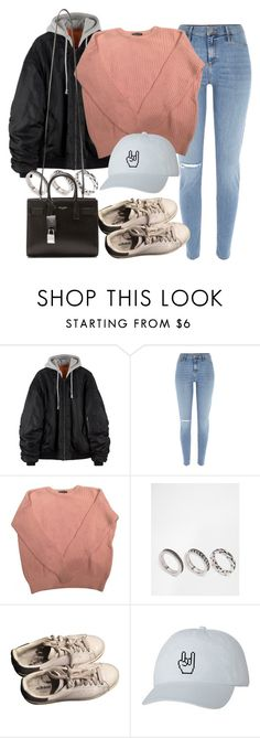 """""""Sin título #11978"""" by vany-alvarado ❤ liked on Polyvore featuring River Island, American Apparel, ASOS, adidas and Yves Saint Laurent"""