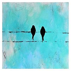 Evoke inner-urban beauty in your space with the vibrant colour and enchanting silhouette of the Bird and Bird Square Painted Canvas Wall Art from United Artworks. Bird Canvas, Hand Painted Canvas, Canvas Wall Art, Canvas Paintings, Square Art, Sky Painting, Bird Design, Aboriginal Art, Letter Art
