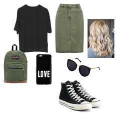 """""""Untitled #14"""" by kmwilloughby on Polyvore featuring M&Co, Converse, JanSport and Givenchy"""