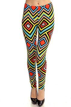 Women's Sexy Neon Tribal Fashion Leggings