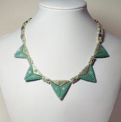 2150 Triangles necklace by Darlene Pfahl lakesidejewelry.etsy.com
