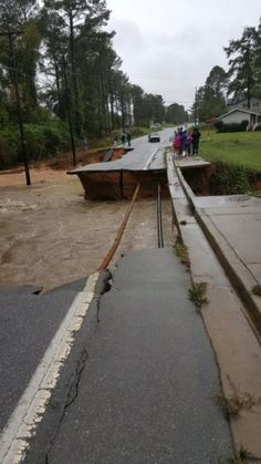 """CAUGHMAN ROAD """"The following pictures are from Caughman Road, not far from Caughman Park in Hopkins. The road is completely destroyed."""""""