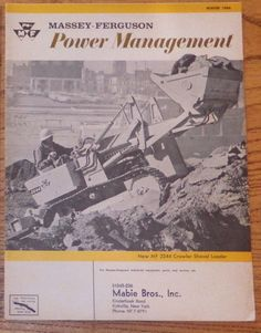 Winter 1966 Massey Ferguson Power Management MF2244 MF356 MF470 MF2135 MF304 #MasseyFerguson