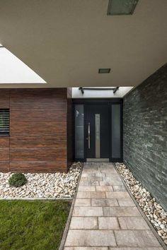 aménager une entrée de maison avec extérieur contemporain