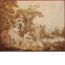 Aubusson XIX design F. Boucher