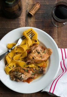 Chicken in Red Wine Vinegar Sauce by davidlebovitz: This French bistro classic is easy to make in one pan, resulting in an astonishingly well-flavored chicken. Just as good the next day. #Chicken #Red_Wine_Vinegar