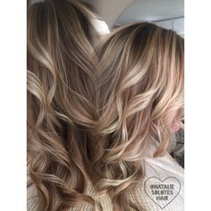 Beige bright blonde Victoria's Secret inspired hair Blake Lively hair inspo inspiration Balayage specialist colorist Western New York East Amherst Buffalo hair salon stylist Hair painting for more follow @nataliesoloteshair ombre sombre bronde blonde