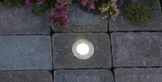 Hagelys LED innfelling lys belegningsstein mur light spot utendørs lys Aaltvedt Stein