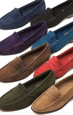 63a1837240b Suede Penny Loafer. The House of Bruar