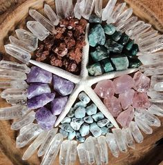 How about this gorgeous crystal grid for some mermaid energy? Stunning.