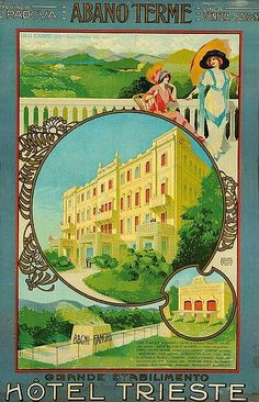 Hotel Trieste - Abano Terme -Abano Terme is a town and comune in the province of Padua, in the Veneto region, Italy, on the eastern slope of the Colli Euganei; it is 10 kilometres southwest by rail from Padua.