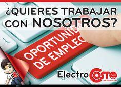 ¿Buscas #empleo? ¿Te gustaría trabajar en Electrocosto? Buscamos gente para nuestros departamentos Internacional y de Marketing. ¡Envíanos tu currículum! Más información: https://www.electrocosto.com/content/trabaja-con-nosotros