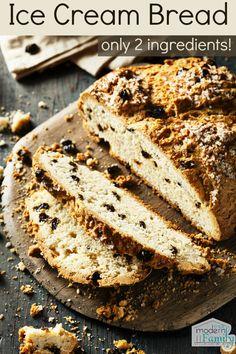 Ice Cream Bread recipe – 2 ingredients