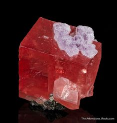 Rhodochrosite with Fluorite, Sweet Home mine, Alma, Park County, Colorado, USA, Thumbnail, 2.6 x 1.9 x 1.3 cm, Full thumbnail-sized Sweet Home rhodos, that are superb thumbnail specimens and not just