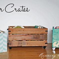 Storage bins made from recycled wood and some stain, love it!