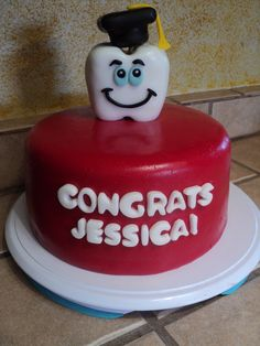 DENTAL HYGIENIST GRADUATION CAKE: MY OWN CREATION: SEE MY E-BAY SHOP: http://stores.ebay.com/Edible-Cake-Toppers-and-More