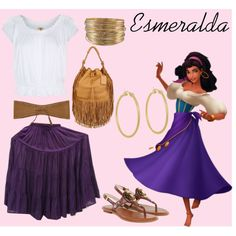 """Esmeralda"" by yestofashionstyle on Polyvore Disney Princess style :)"