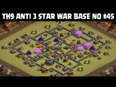 Clash of Clans | Town Hall 9 Anti 3 Star War Base | Layout 45