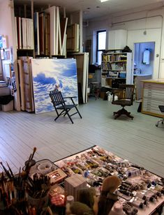 Studio space bead studio, my art studio, home studio, studio ideas Bead Studio, My Art Studio, Home Studio, Studio Ideas, Studio Studio, Studio Spaces, Art Storage, Storage Rack, Painters Studio