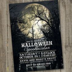 Pleine lune Halloween Party Invitation imprimable par partymonkey