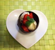 Chocolate cup icecream