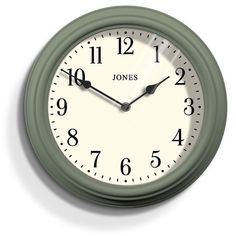 Free delivery over to most of the UK ✓ Great Selection ✓ Excellent customer service ✓ Find everything for a beautiful home Wall Clocks Uk, Green Wall Clocks, Kitchen Wall Clocks, Wall Clock Online, Vintage Walls, Vintage Metal, Green Kitchen Walls, Traditional Wall Clocks, London Clock