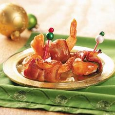 Shrimp wrapped in Bacon!