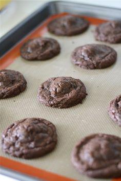 Sea Salt & Caramel Filled Brownie Cookies...drool