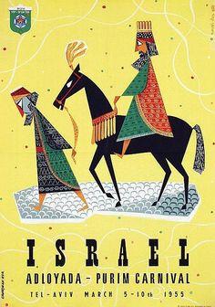 What a cool poster!! Grundman - Israel Adloyada-Purim Carnival