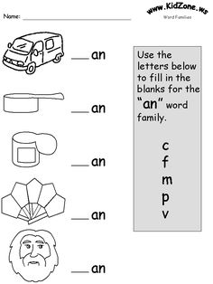 word family worksheet  learn to read  pinterest  frees  &