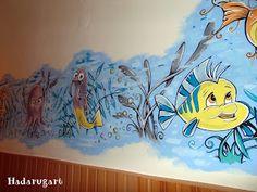 Artizani romani | Mestesugari romani | Pictura pe perete intr-un centru maternal din Campia Turzii Romani, Handmade, Wall Paintings, Email, Home Decor, Art, House, Art Background, Hand Made