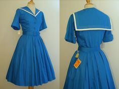 Wonderful Vintage 1950s SAILOR COLLAR Day by RainbowValleyVintage