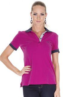 5be31970cd 27 melhores imagens de Camisa Polo Feminina