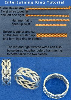 Intertwining RingFree Diy Jewelry Projects   Learn how to make jewelry - beads.us