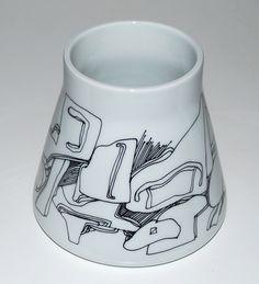 Sten Lykke, vase in porcelain, Bing & Gröndahl Denmark.