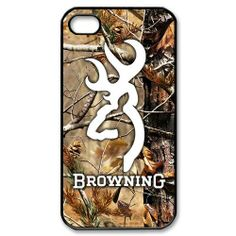 Browning Deer Camo for iPhone 4 4s 5 5s 5c Galaxy S3 S4 Mini black case cover -$17.90